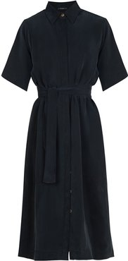 Essential Shirt Dress In Black