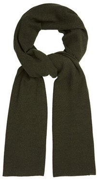 Oversized Knitted Wrap Scarf Deep Olive