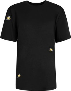 Bee Embroidered T-Shirt Black Men