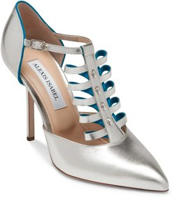 Alter Ego Metallic Leather Pumps