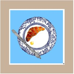 The Croissant Plate Limited Edition Signed Print