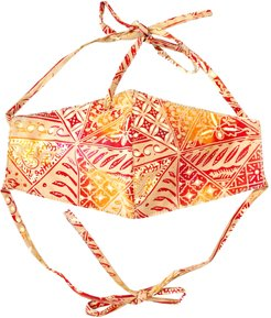 Brunna. Co - Red Java 3-Ply Batik Face Mask With Adjustable Ties