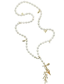 Freshwater Pearls Long Pendant Necklace