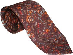 The Tropical Butterfly Tie Terracotta