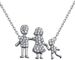 Sterling Silver Family Pendant One Boy Necklace
