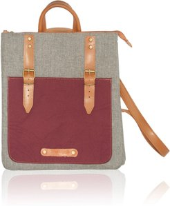 City Backpack /Cross Body Bicolor Red