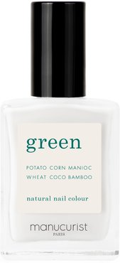 Green Nail Lacquer - Milky White