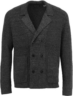 Christopher Cardigan In Xtrafine Charcoal