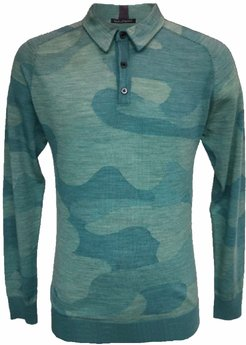 Peter Polo In Woolcamo Teal