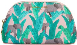 Elephant Vegan Leather Oyster Cosmetic Case
