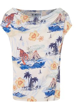 Sens Top In Bali Surf Print