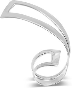 Hollow Wave Ii Ring Silver