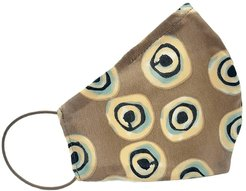 Taupe Contemporary Evil Eye Double Layer Mask