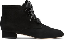Raya Black Suede Ankle Boots