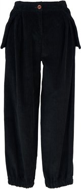 Baggy Green Corduroy Trousers
