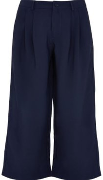 Navy High Waisted Trousers