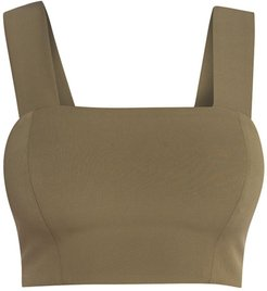 Strappy Crop Top In Khaki
