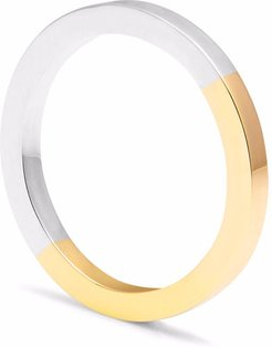 Recycled 9K Yellow Gold & Silver Square Band