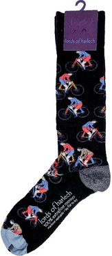 Donald Cyclists Black Extrafine Merino Wool Socks