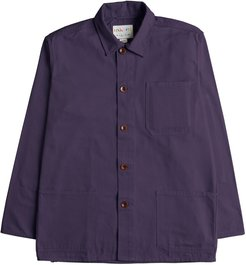 The 3001 Buttoned Overshirt - Purple