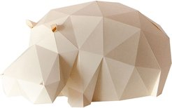 Lazy Hippo Paperlamp Kit In Sandy Beige