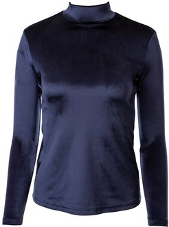Navy Velvet Turtleneck