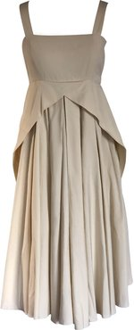 Cotton Midi Dress Beige Délia