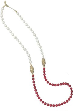 Freshwater Pearls Red Corals Multi-Way Necklace