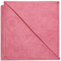 Regent Pink African Print Pocket Square With Leather Label