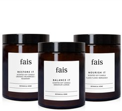Botanical Scented Soy Candles Set - Various Aromatherapy Blends