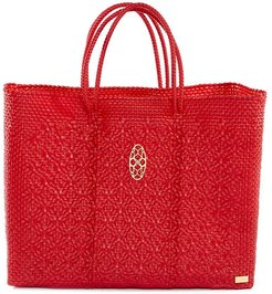 Red Book Tote Bag With Clutch