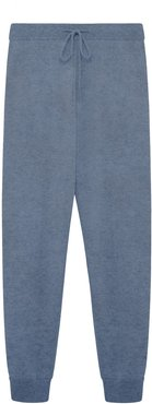 Cherry Cashmere Joggers In Grey Blue