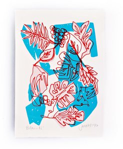 Blue Botanic Limited Edition Screen Print