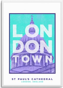 St Paul'S Cathedral London Town Series A3 Print