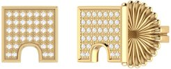 City Arches Stud Earrings In 14 Kt Yellow Gold Vermeil On Sterling Silver