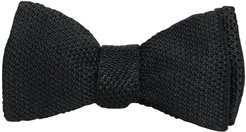 Black Knitted & Woven Silk Butterfly Bow Tie