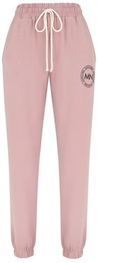 No. 1 Classic Dirty Pink Sweatpants With Logo