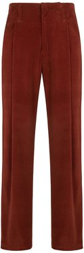 Wide Pleated Cord Chino