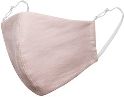 Dusty Pink Linen Cotton Face Mask With Filter Pocket