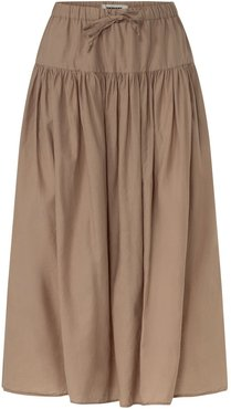 Carine Skirt In Dusty Brown Voile
