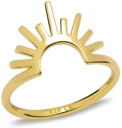 Celestial Rising Sun Ring Gold