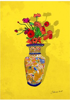 Vase Of Poppies Signed Print