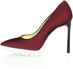 Sporty Mesh Pumps Red