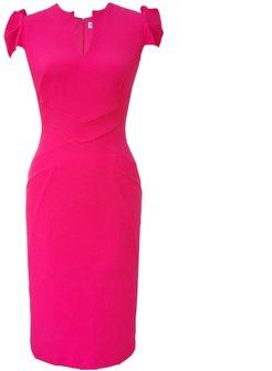 Cosmo Dress Sunset Pink Crepe