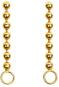 Beads Chain Earring With O-Ring Hook Gold