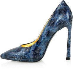 Python Effect Leather Pointy Pumps