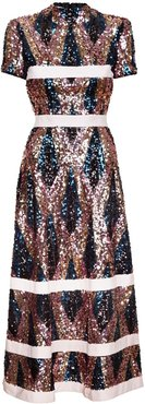 Sequin Dress With High Neck