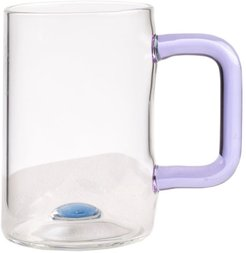 Glass Tea Cup With Pink Handle