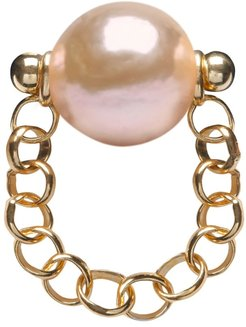 Auria Gold Pearl Chain Ring Gold