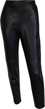 Eat Your Words Black Vegan Leather Trousers